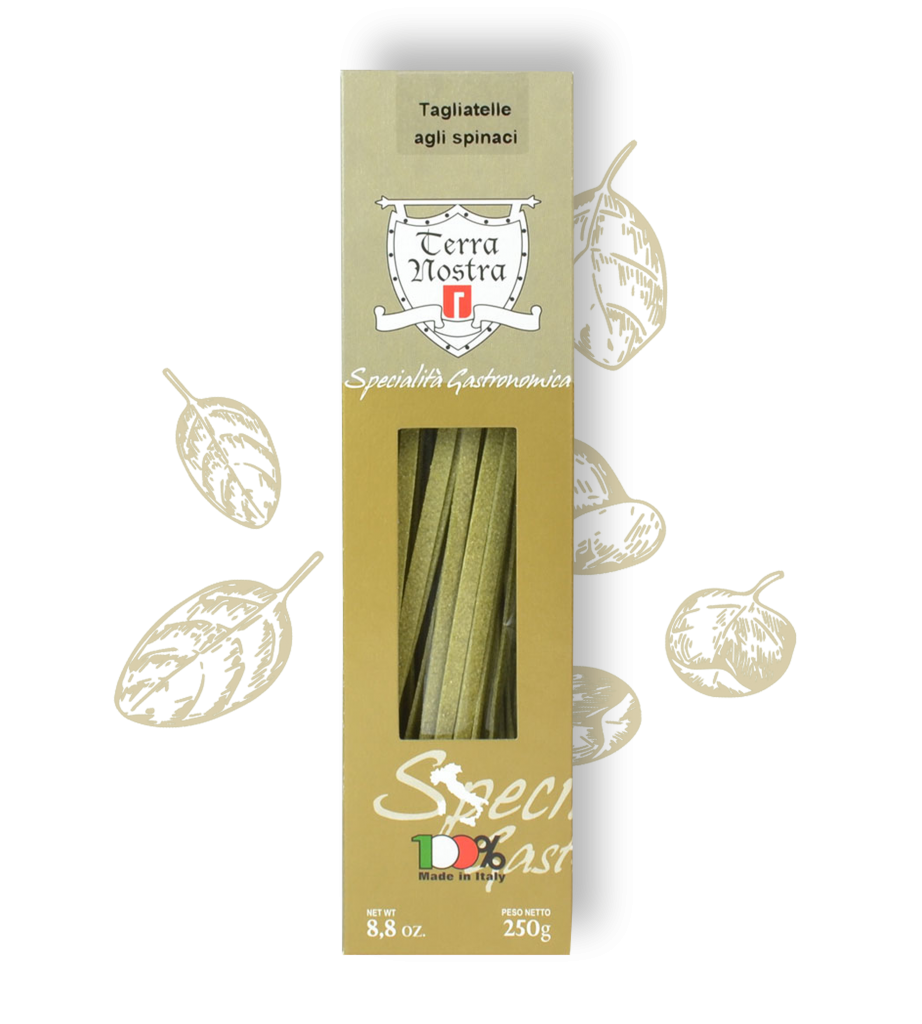 Pasta met spinazie smaak