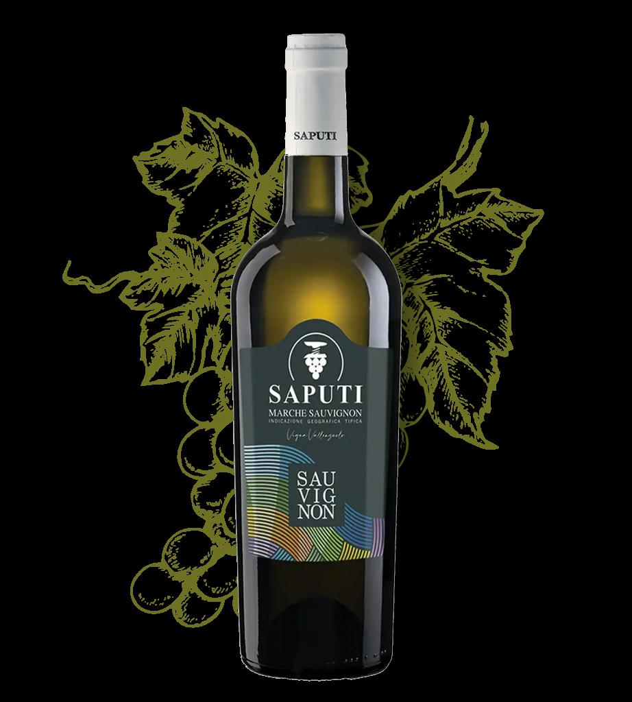 Italiaanse Sauvignon wijn van Saputi